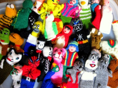 FInger puppets from Peru