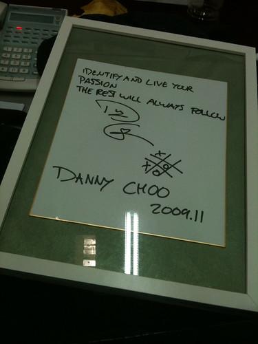 Danny Choo's autograph