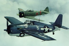 WWII Warbirds air-2-air (Koston Photography) Tags: museum airplane flying illinois fighter 5 aircraft aviation wwii flight aeroplane aerial il airshow ww2 urbana avio wildcat 1945 flugzeug warbirds usnavy zero usn aviator aa avion fm2 eaa at6 airtoair worldwartwo flightsimulator  frasca flug pacifictheatre koston aeroplano formationflying air2air warinthepacific japaneseaircraft  rudyfrasca fm2wildcat frascafield tedkoston at6zero wwiijapan frascainternational frascaairmuseum n2690c fleug