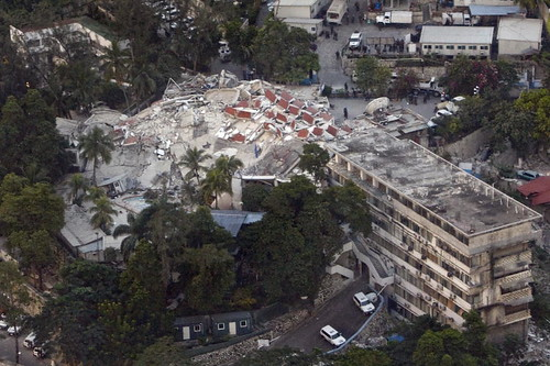 Aerial View of UN Headquarters in Port-au-Prince After Quake. Photo:United Nations Photo, flickr