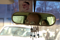 Rear View Mirror (kamshots) Tags: mirror republic view iran taxi rear royal driver iranian tehran regime allah islamic ayatollah khomeini ruhollah