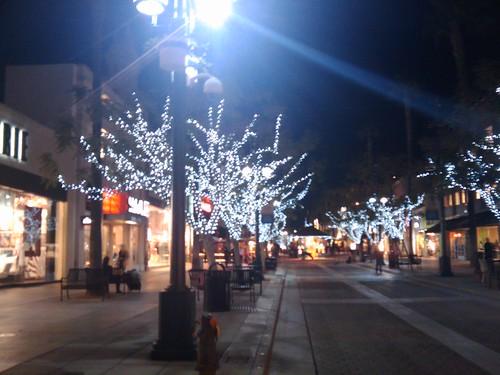 Night view of 3rd, street promenade