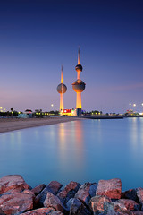 Kuwait Towers (Explored) ( Saleh AlRashaid / www.Salehphotography.net) Tags: blue sunset seascape art sunrise landscape photo nikon long exposure cityscape gulf state photos towers middleeast arab hour canon5d kuwait nano d3 gcc kuwaitcity kuwaiti  q8  saleh  kuwaity  alkuwait     2470      kuwaitdesert kowait citynightshot stateofkuwait    d3x   kuwaitphoto kuwaitphotos kuwaitpic q8photo   q8pic    alrashaid salehalrashaid  salehphotographynet  kuwaitsanddunes