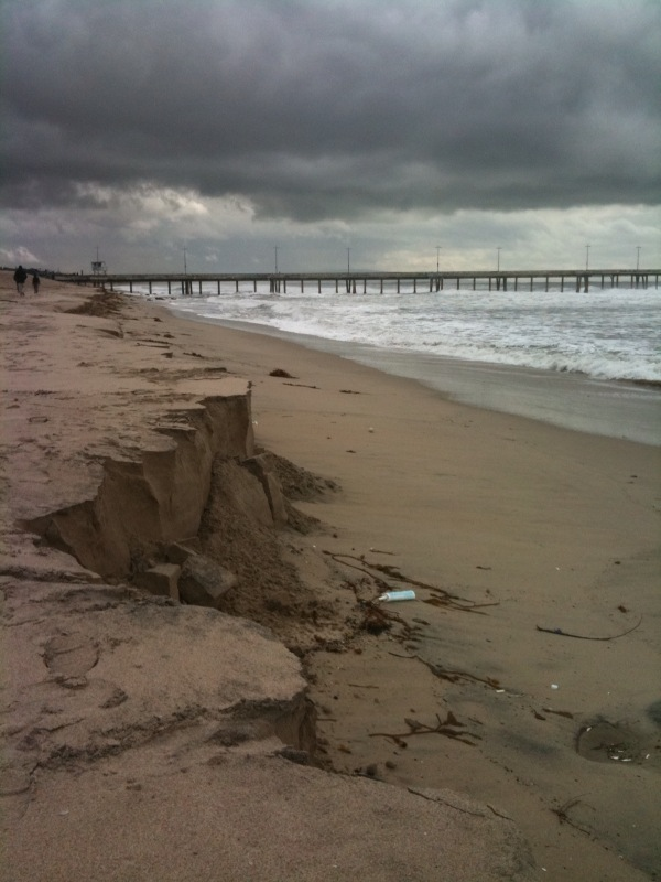Crazy erosion at Venice Beach