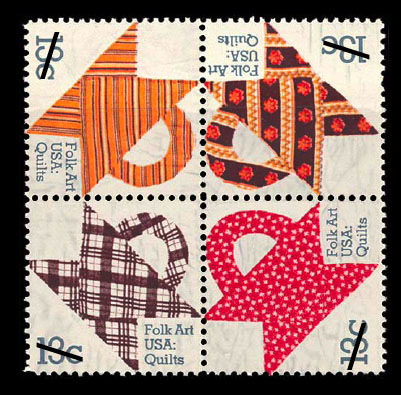 folk art quilt stamp
