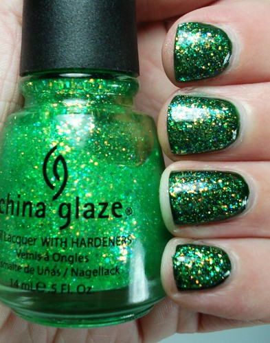 China Glaze Sour Apple over Chelsea Psycho Green