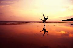 .Joy. (.krish.Tipirneni.) Tags: sunset red orange india west beach me silhouette thanks myself freedom coast jump joy goa hyderabad westcoast suresh adarsh hpc palolem 18200vr d80 jumpjilani krishwashere