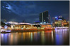 CQ clarke quay (fiftymm99) Tags: seascape reflection river nikon singapore clarkequay moonnight d300 mywinners nikond300 marinabaysand sinagporeriver fiftymm99 mygearandme