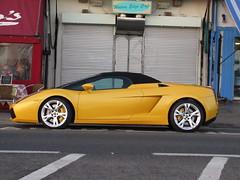 Lamborghini Gallardo Spyder (Mostly Dans) Tags: yellow italian spyder lamborghini supercar southendonsea gallardospyder