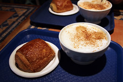 Premiere Moisson Pain au Chocolate and Cafe au Lait (kaszeta) Tags: food canada quebec montreal pastry premieremoisson