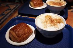 Premiere Moisson Pain au Chocolate and Cafe au Lait (kaszeta) Tags: food canada quebec montreal pastry premieremoisson