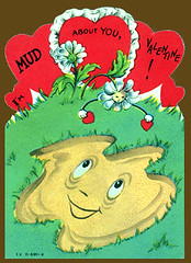Mud about you (pageofbats) Tags: old vintage weird mud valentine retro card valentinesday vintagevalentine vilevalentine