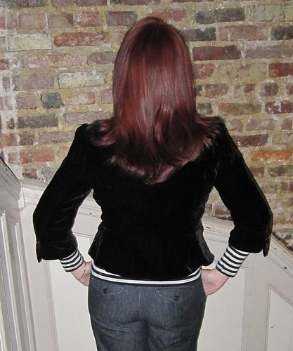 hair back and peplum back