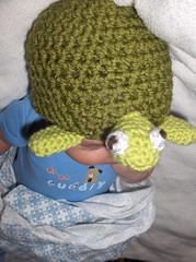 Turtle Hat (ruali) Tags: winter boy baby cute green girl warm acrylic handmade turtle crochet yarn cap cover newborn etsy ruali