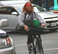 Redbeard cyclist