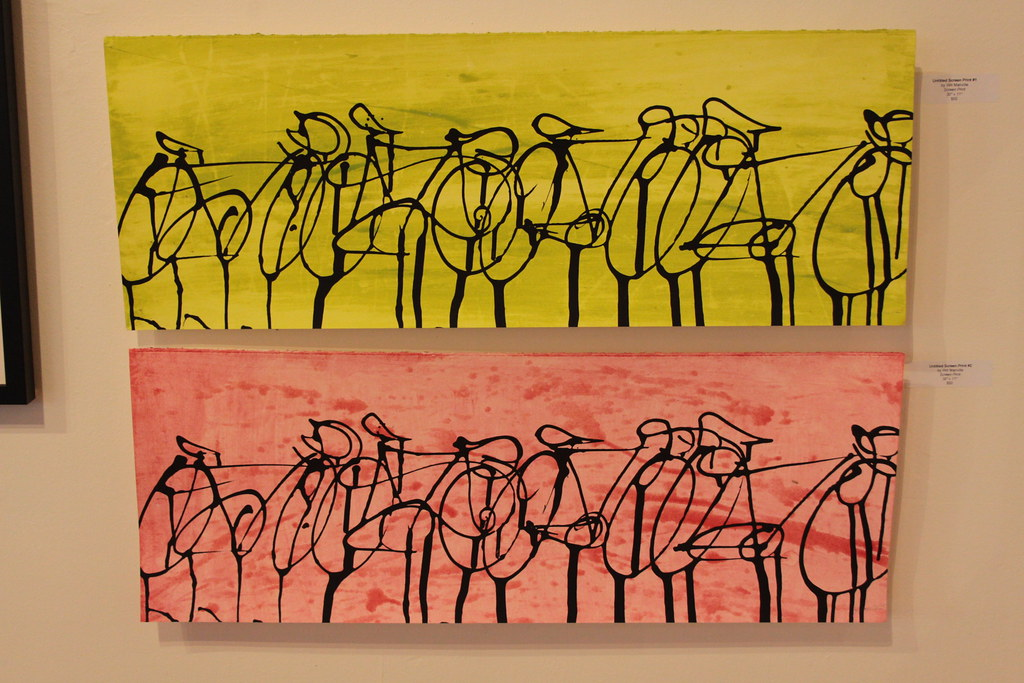 Untitled Screen Print #1 and 2 by Will Manville - $50 each