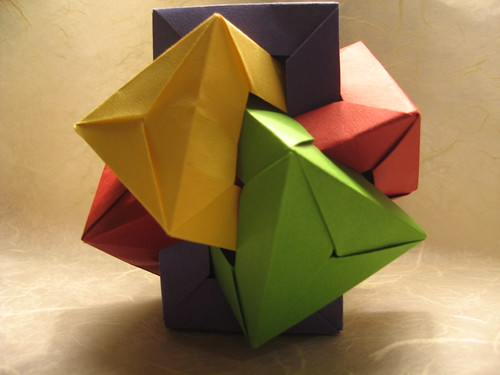 This is my Origami — Six intersecting pentagonal prisms designed by...   375x500