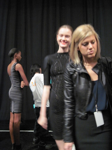 Failed picture of Jac backstage at Herve Leger