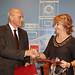 José Oliu y Esperanza Aguirre - Convenio de Colaboración entre Banco Sabadell y la Comunidad de Madrid