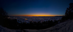 Best sunset-spot in Oslo (Joaaso) Tags: city winter sunset sky snow nature sunshine oslo norway by clouds evening norge vinter adobephotoshop catchycolours stitch hill natur himmel lys skyer februar oslofjorden sn solnedgang lightroom kveld solskinn grefsenkollen bltime canonefs1755mmf28isusm canoneos450d