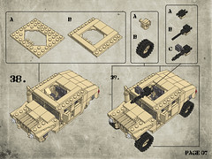 Page 07 (Legohaulic) Tags: lego military instructions humvee cad mlcad ldview