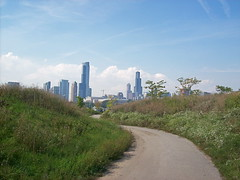 (SaraNicoleDesigns) Tags: family blue sky chicago history nature skyline architecture modern america landscape island illinois path contemporary united states northerly