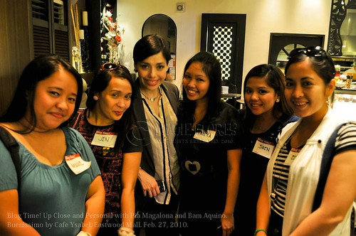 Bloggers with Pia Magalona