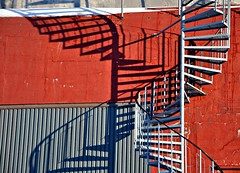 Spiral and shadow (ystenes) Tags: shadow red norway spiral photography norge photo nikon foto norwegen staircase 1001nights trondheim srtrndelag norvege fotografi bilde magiccity trndelag d90 linescurves nikond90 drontheim midtnorge tronhjem 1001nightsmagiccity mygearandme mygearandmepremium mygearandmebronze mygearandmesilver mygearandmegold mygearandmeplatinum mygearandmediamond