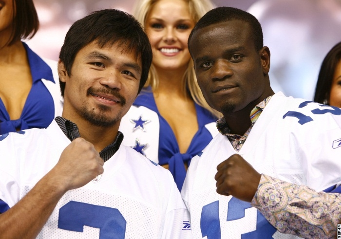 Pacquiao and Clottey at the Dallas Cowboy Stadium