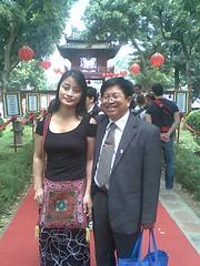 TS.Tran Manh Tien va NCS.Pham Thi Xuan Chau trong Ngay Tho Viet nam  ,28/2/2010 by Dr.TranManhTien-HUT