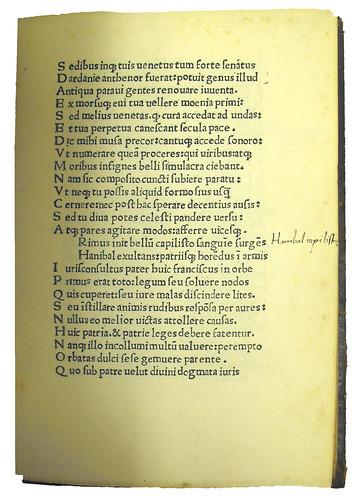 Annotation in Canis, Johannes Jacobus: De ludo equestri Patavii ad Ludovicum Fuscarenum carmen