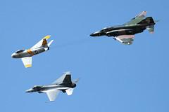 US Air Force Heritage Flight (paparazzipizza) Tags: f86 heritageflight f16c qf4e riversideairshow