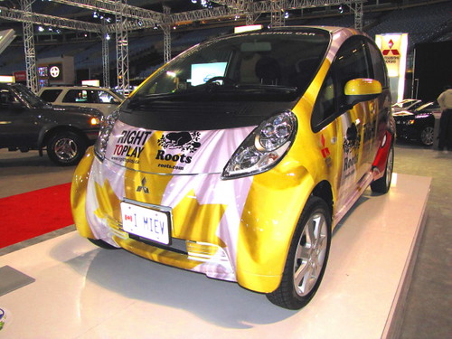 Mitsubishi innovative Electric Vehicle, die Lithium-Ionen-Batterien verwendet