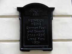 Photo of Heinrich Heine black plaque