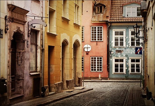 Old street in Riga, Lativa