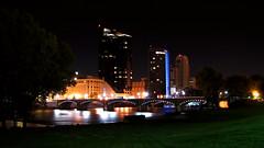 Grand Rapids Skyline (amtrak_russ) Tags: ford skyline museum night river downtown michigan grand rapids gerald r hd