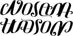 """""""Nolan"""" & """"Hudson"""" Ambigram"""