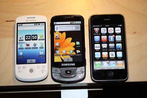 Samsung galaxy, HTC Magic o iphone