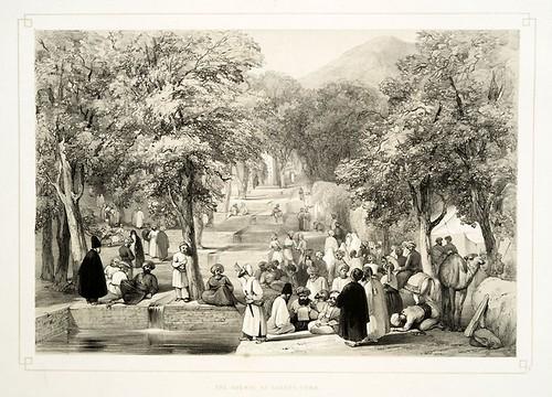 025-La avenida en la tumba de Baber-Sketches in Afghaunistan 1842- James Atkinson