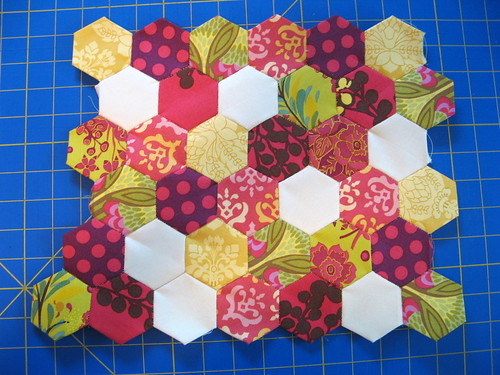 hexagons pieced together