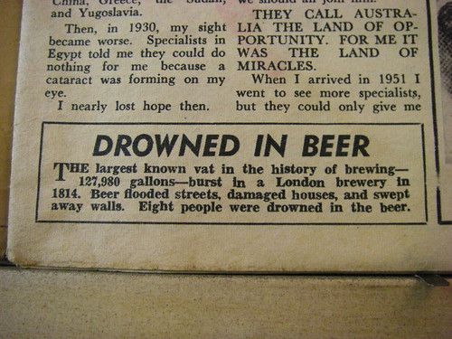 Drowned in beer!