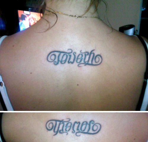 """Joseph"" & ""Thomas"" Ambigram Tattoo"