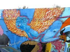 San Carlos Borromeo Church, Madrid, Spain (balavenise) Tags: madrid street city urban streetart art church wall publicspace graffiti calle spain mural paint artist tag cité paintings iglesia ciudad peinture urbanart artbrut rue mur église ville redchurch artdelarue arturbain éphémère postgraffiti artecallejo artedecalle entrevias artsauvage efemero espaceurbain iglesiarojo