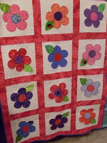Flower baby quilt