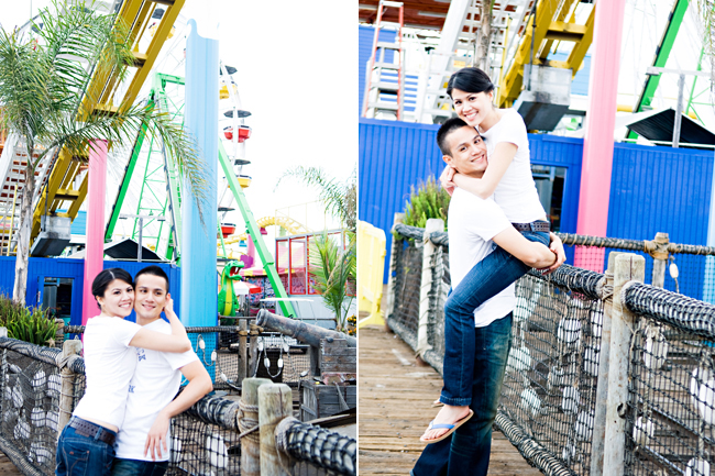 Santa Monica Engagement Photo