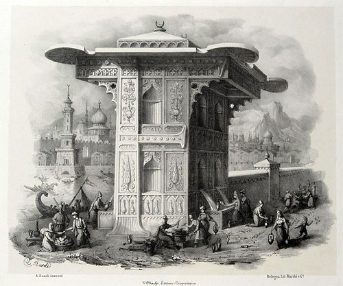 006- Letra F-Alfabeto pittorico- Antonio Basoli 1839-© Accademia di Belle Arti di Bologna