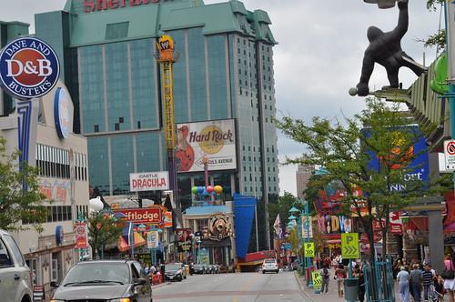 Clifton Hill - calle principal de Niagara Falls