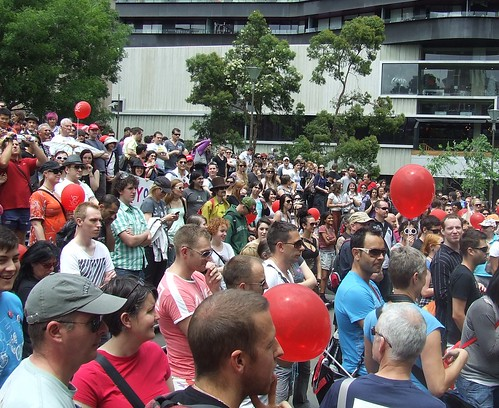 Same Sex Marriage Rally, State Library of Victoria, Swanston and La Trobe Sts, Melbourne City, Victoria, Australia 091128-136