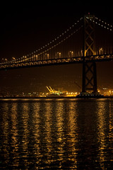 Golden Bay Bridge (. : Jonathan Fiamor : .) Tags: ca bridge wedding portrait reflection water night canon gold bay is san francisco photographer shot jonathan mark double deck ii 5d else everything 200mm f2l fiamor wwwfiamorcom