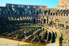 Colisseum (Roma) shift 1 (dK.i photography (counting down)) Tags: travel italy rome photoshop miniature flickr shift explore tilt tiltshift explored fakeminiature tiltshift12 daddyk dki flickrtiltshift